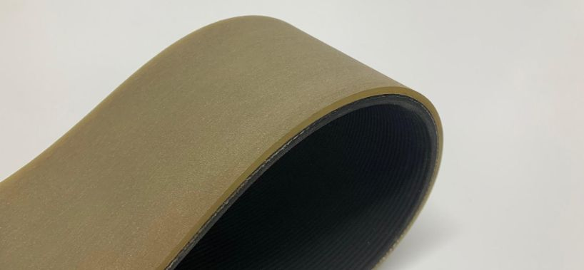 Poly v-belt with polythan coating